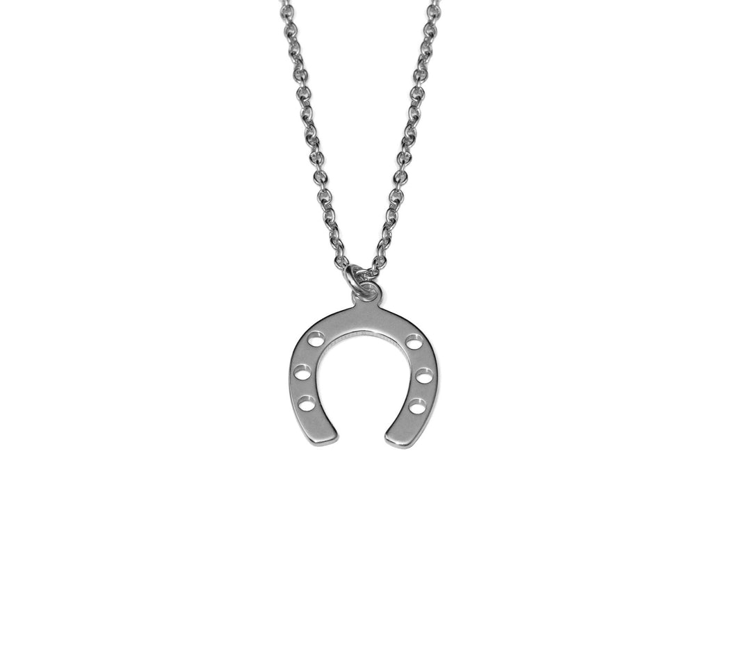 Horseshoe Necklace - Silver