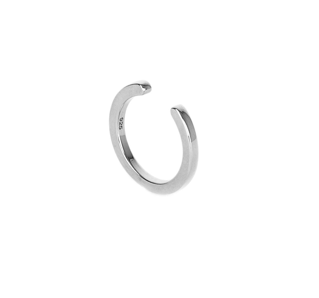 Open Flat Ring - Silver