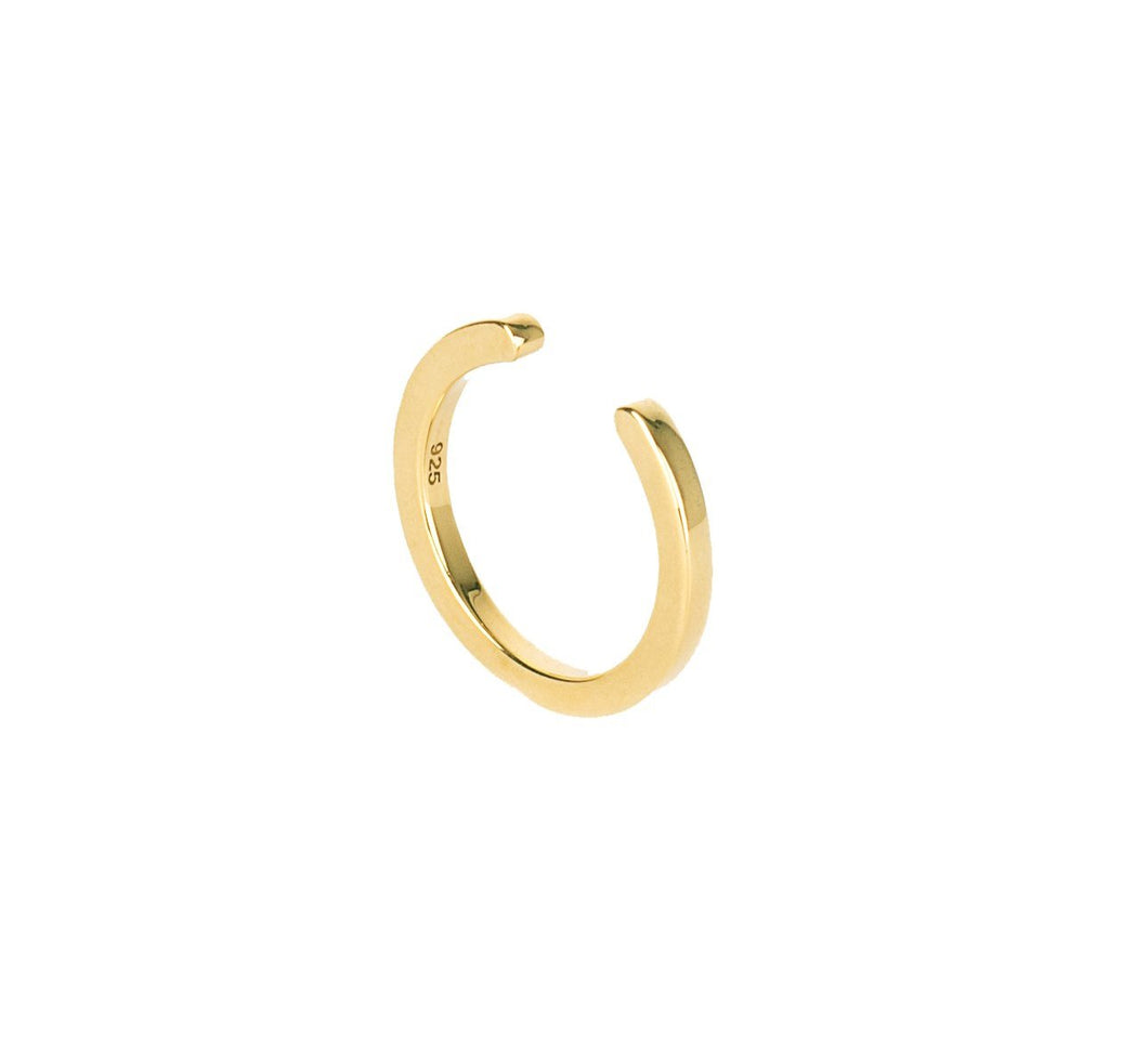 Open Flat Ring - Gold