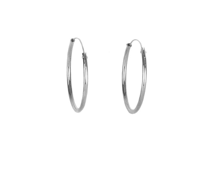 Ring Earrings - Silver