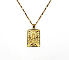 Virgen del Pilar Medal Necklace unisex - Gold