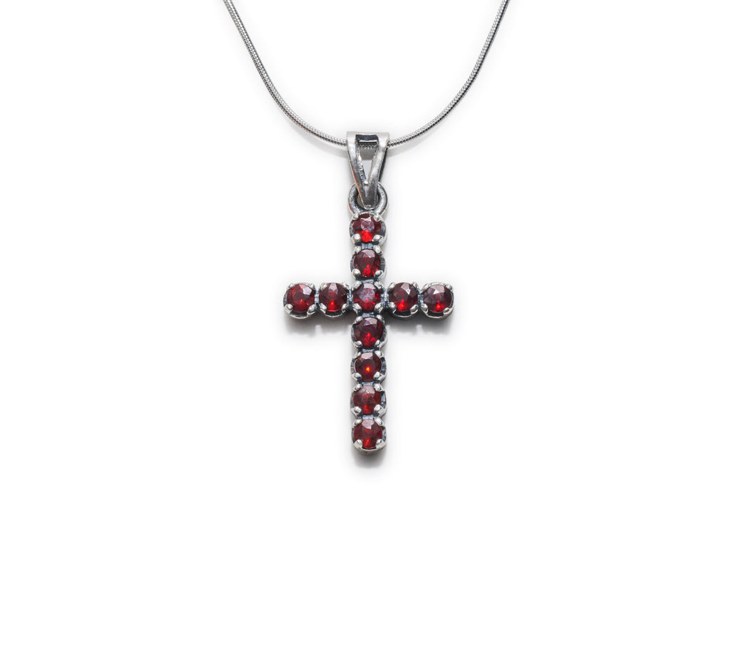 Wine Cross Necklace