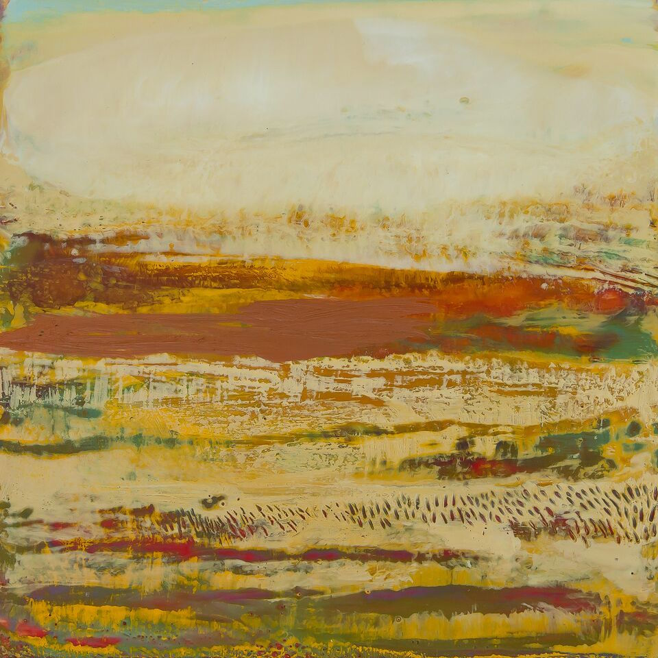 "Paso Robles, Encaustic on cradled birch, 24""x24"""
