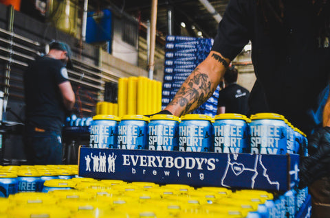 Everybody's Brewing Three Sport Day Lifestyle Pilsner