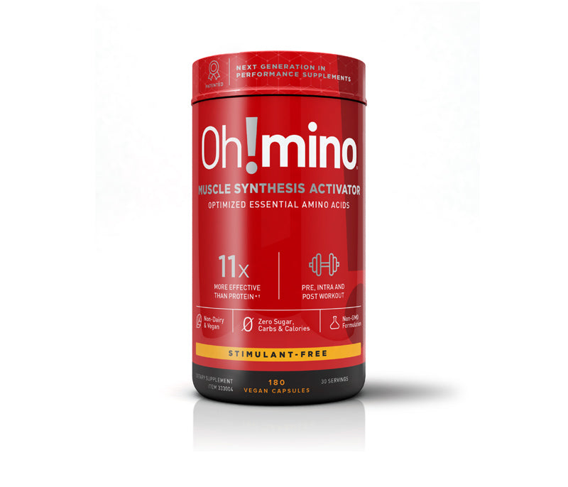 Oh!mino® Muscle Synthesis Activator†  – Stimulant-Free 180 Vegetarian Hard Shell Capsules