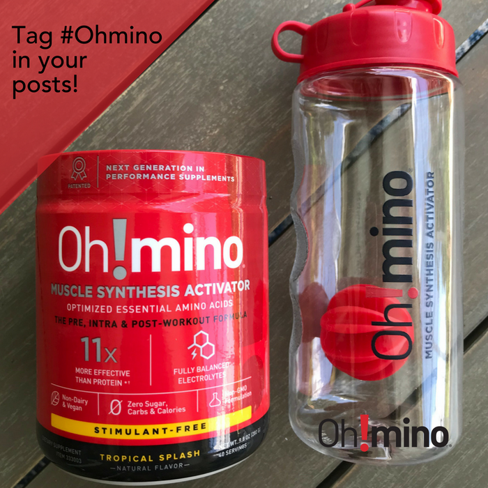 Oh!mino® Muscle Synthesis Activator† - Bottle w Black Cap
