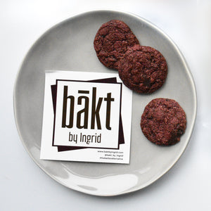 bakt by Ingrid revolution motherhood collaboration cookie with beets, cacao and cordyceps