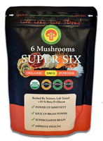 Organic Super Six  Blend  Mushroom Extract Powder