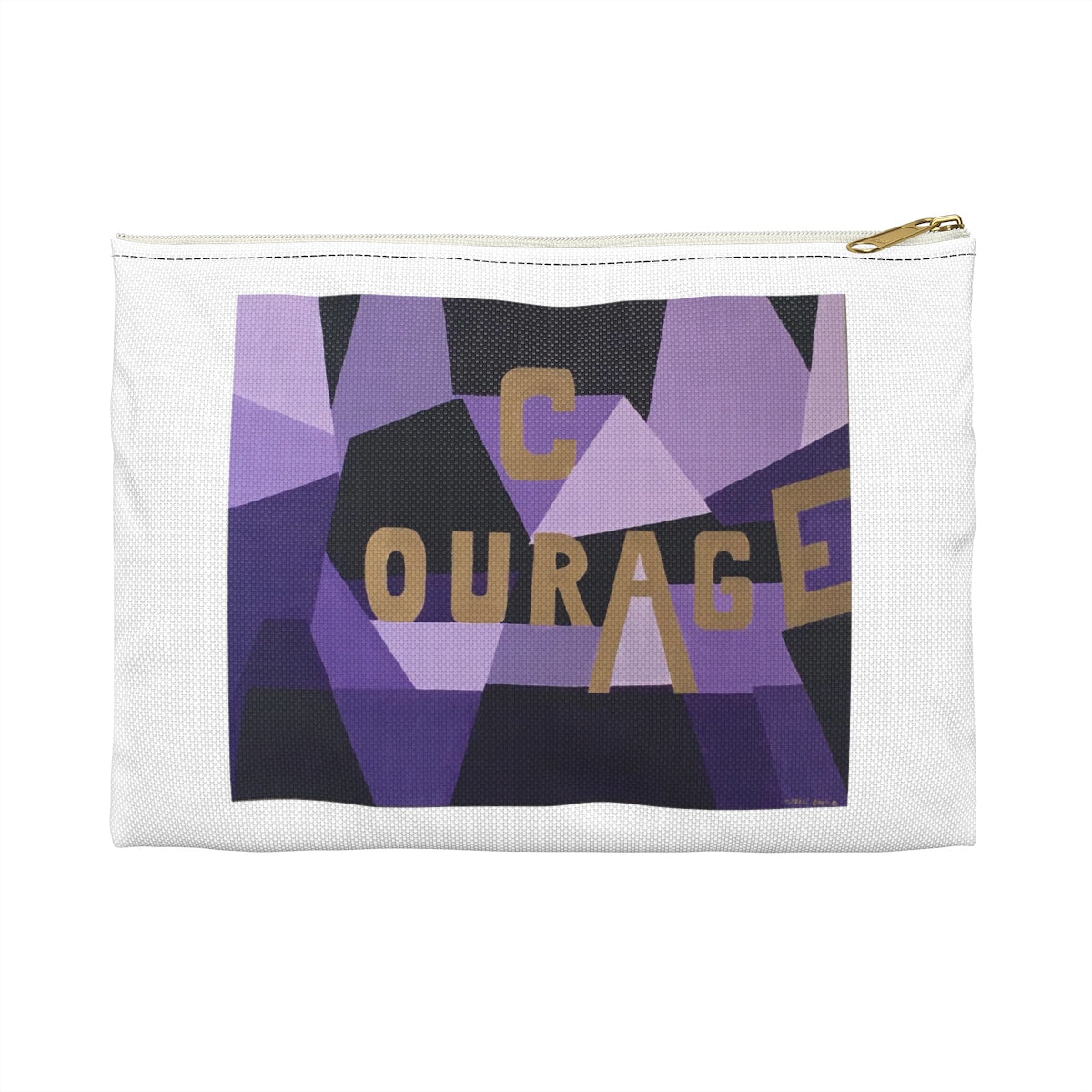 Courage Accessory Pouch - Tara Price Art