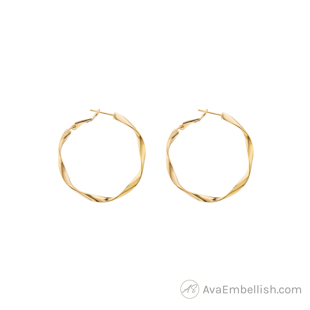 Eternal Twist Gold Hoops