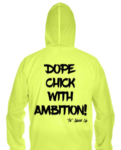 "Dope Chick With Ambition "" D.C.W.A "" Pull Over Windbreaker"