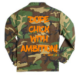 "Dope Chick With Ambition ""D.C.W.A"" Camo Jacket"