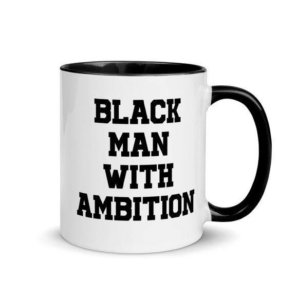 BLACK MAN WITH AMBITION MUG