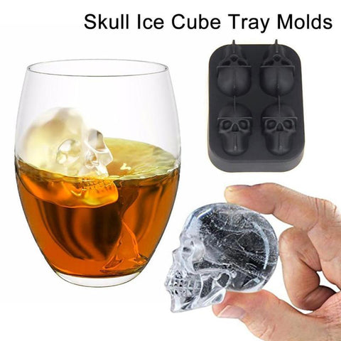 Skull Silicone Ice Cube Tray Mould