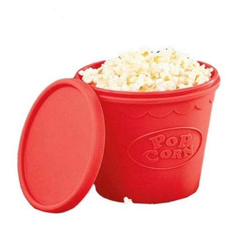 Silicone Popcorn Maker Bucket - Just Microwave for 3 Minutes!