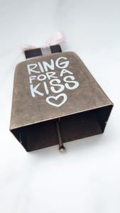 """Ring for a Kiss"" Bell ~ Wedding Party Table~Bridal Shower Favor~Bridal Gifts"
