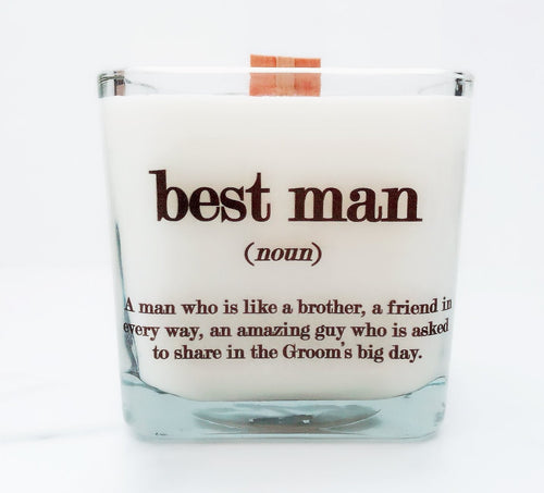 Best Man Soy Candle ~ Personalized Wedding Candles~Groomsmen Gifts