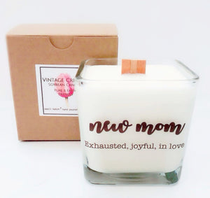Mom Life Soy Candle ~Baby Shower~Mother's Day Gifts~Mom Candles~New Mom Gift