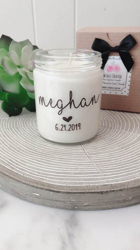 Bridesmaid Name Candles~Personalized Bridesmaid Gifts~Name Candles ~Personalized Maid of Honor~Bridesmaid Proposal Boxes~Matron of Honor