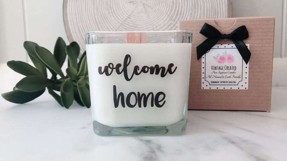 Welcome Home Gift * New Home Gift * House Closing Gifts * Realtor Gifts * Real Estate Gifts * New House Candle * Housewarming Gift