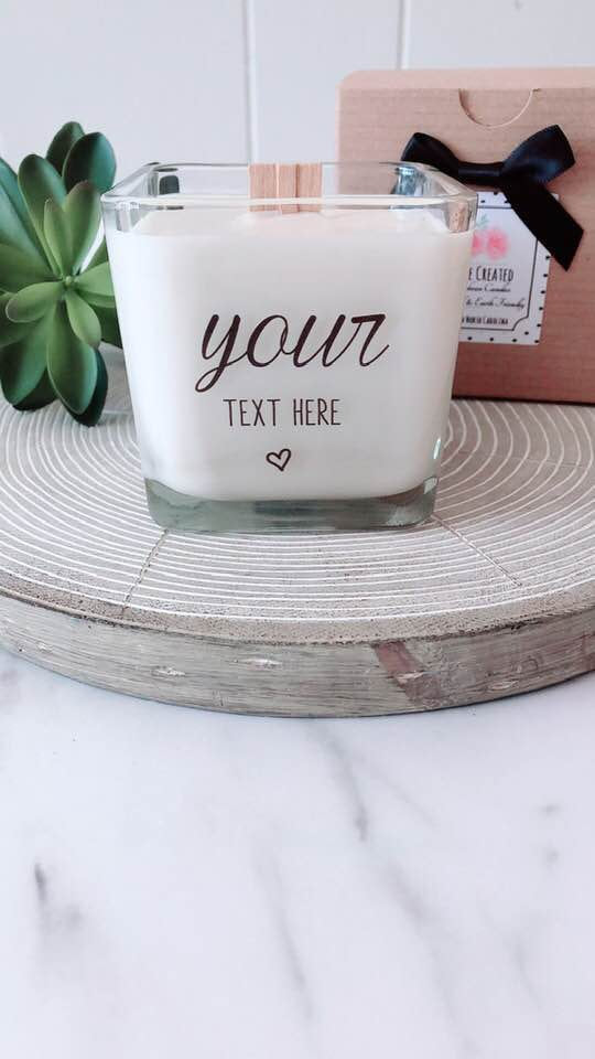 NEW Add Your Own Message Soy Candle~ Custom Message Gifts~Personalized Gifts~Personalized Birthday~Bridesmaids Box~Personalized Candles~Thank You Gifts~