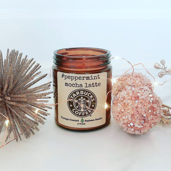 NEW Peppermint Mocha Latte Starbucks Candle~Holiday Candle Line