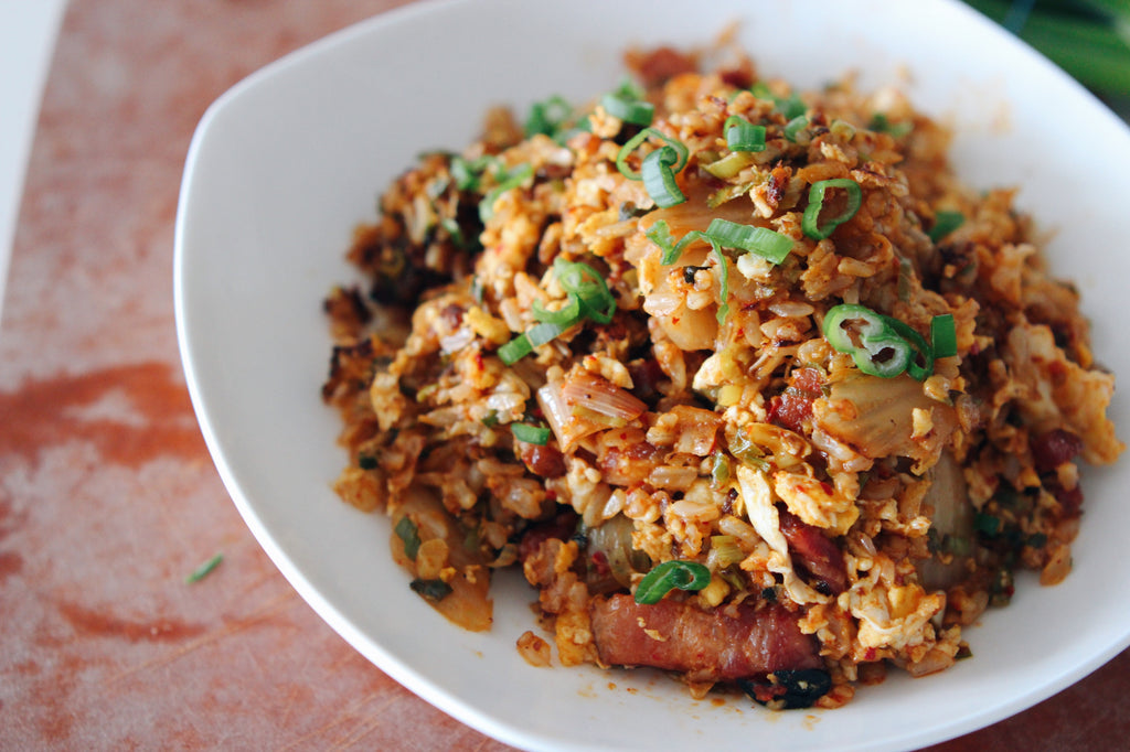 The Best Bacon Kimchi Fried Rice