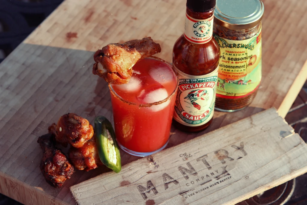 Chicken Wing Jerky Bloody Mary