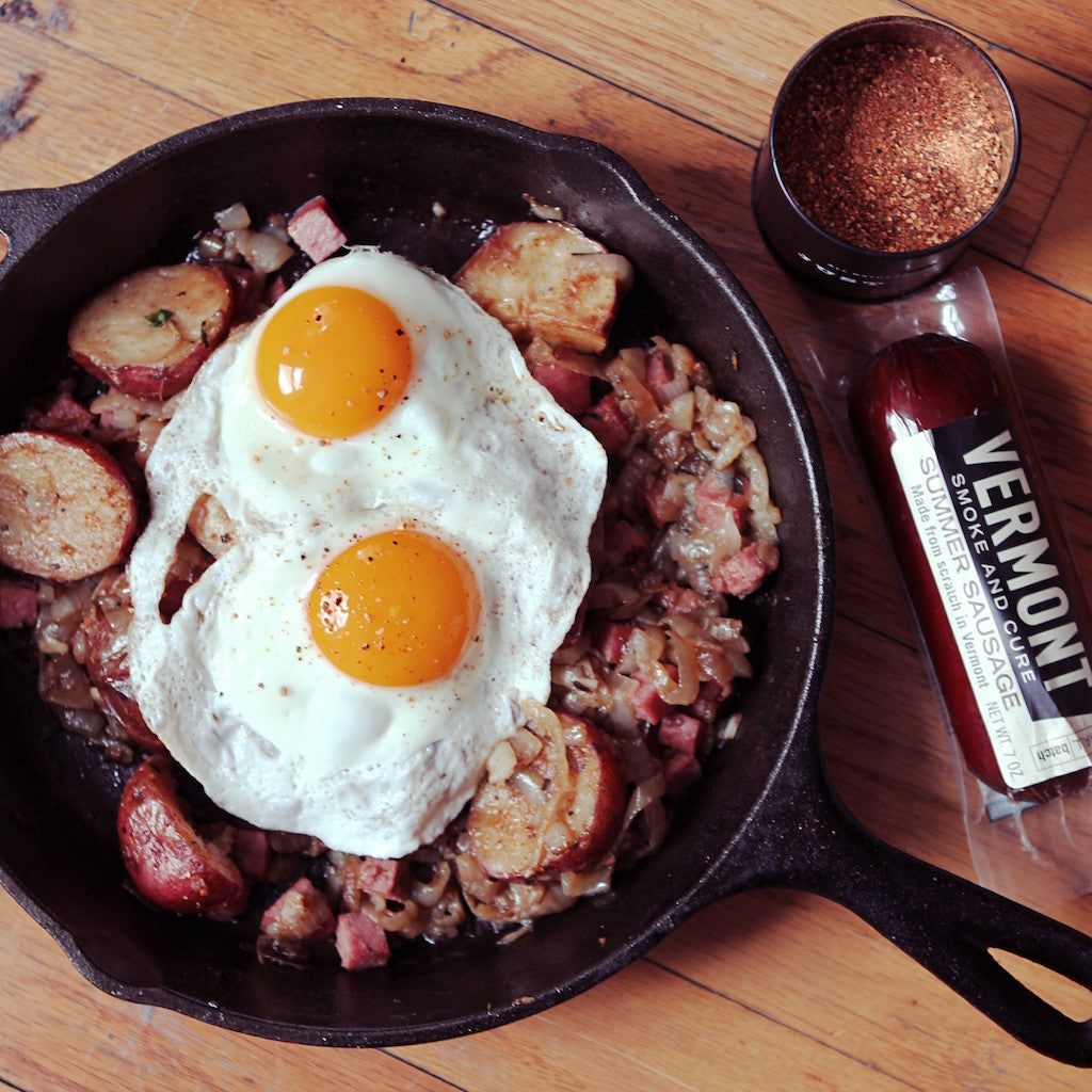 Coffee Summer Sausage Hash