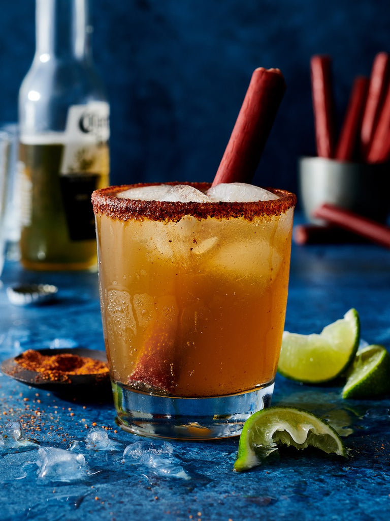 Michelada With Burger's Smokehouse Snack Stick