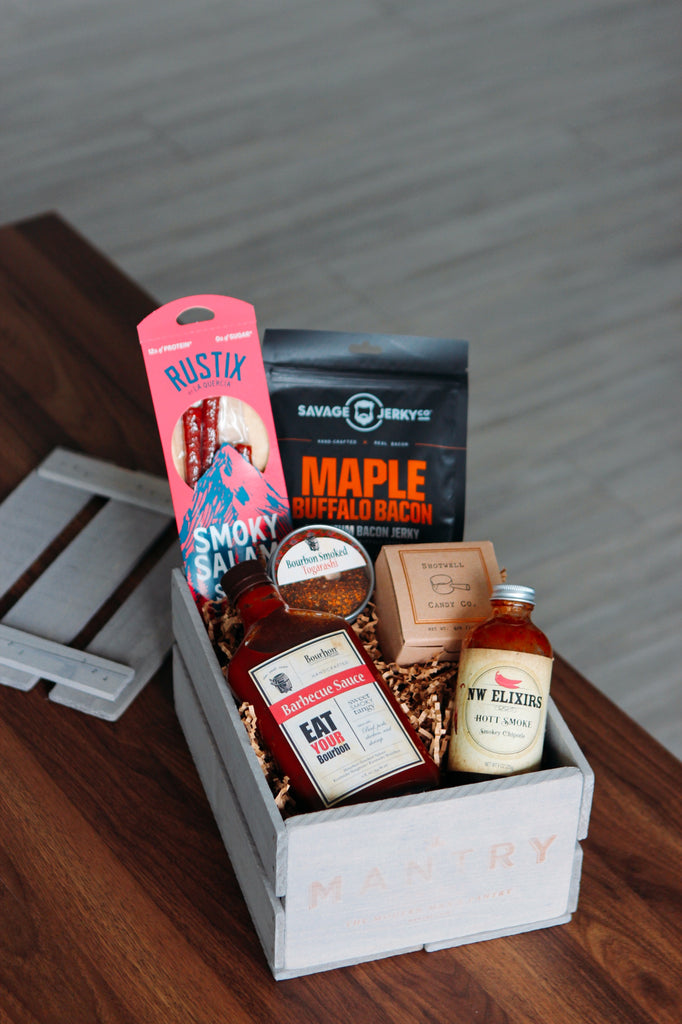 """Mantry Father's Day """"Smoke"""" Grilling Crate"""