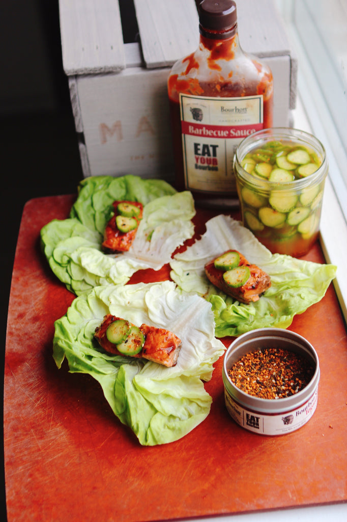 Steelhead Trout Lettuce Wraps