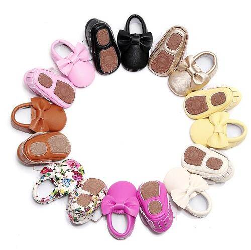 Bowtastic Baby Moccasins