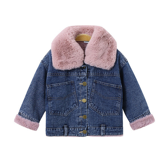 Senai Faux Fur Denim Jamie