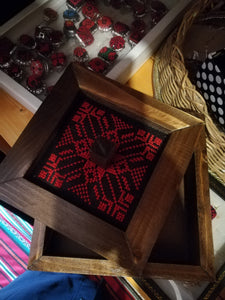 Wooden box with embroidery - Falastini Brand