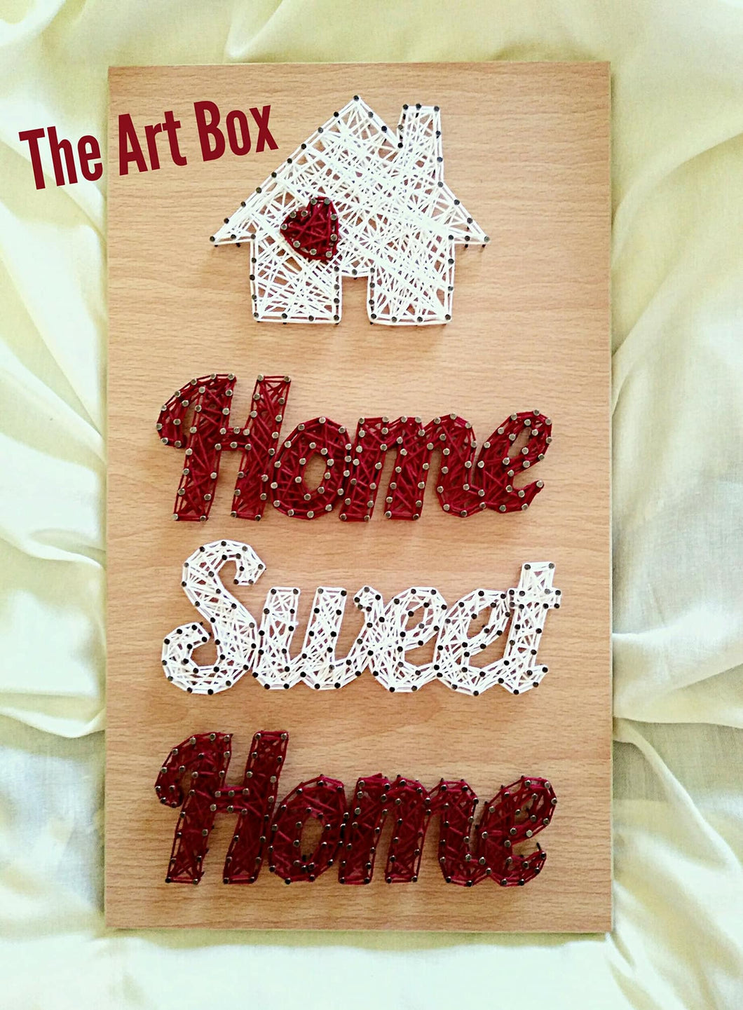 Handmade home sweet home string wall art - Falastini Brand