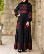 Legendary Palestinian Embroidered Abaya Several Colors