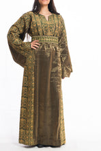 Traditional Palestinian olive-green thoad (dress) - Falastini Brand