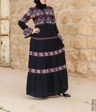 Bell Sleeves Multicolor Charming Palestinian Embroidered Abaya