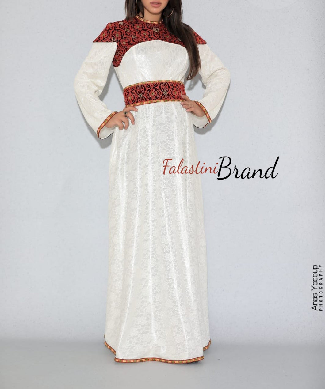 Gorgeous 2 Pieces White Long Dress Long Sleeve