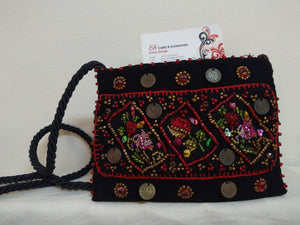 Gorgeous Handmade Small Embroidered Purse