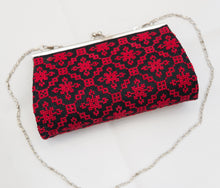 Red embroidered clutch - Falastini Brand