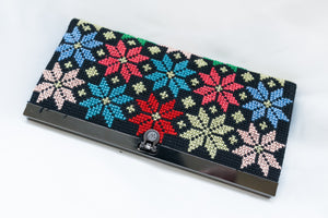 Colored wallet embroidery - Falastini Brand