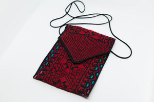 Hand embroidered mobile or sunglasses pouch - Falastini Brand