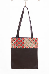 Embroidered brown handbag - Falastini Brand