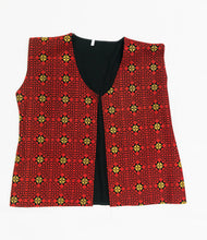 Red embroidered vest - Falastini Brand