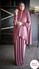 Free Size Two Pieces Bow Cuff Prayer Dress Hijab Scarf Islamic Abaya Lycra Soft Prayer Clothes