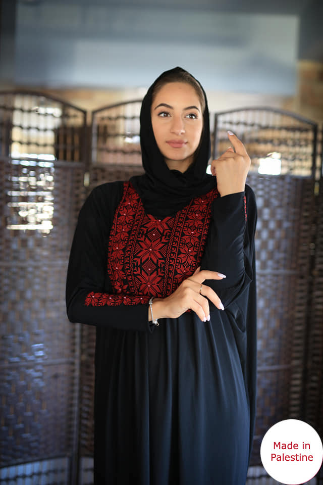 Free Size Embroidered Prayer Dress Hijab Scarf Islamic Abaya Lycra Soft Prayer Clothes