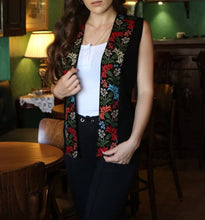 Stylish Palestinian Embroidered Vest Colorful Embroidery