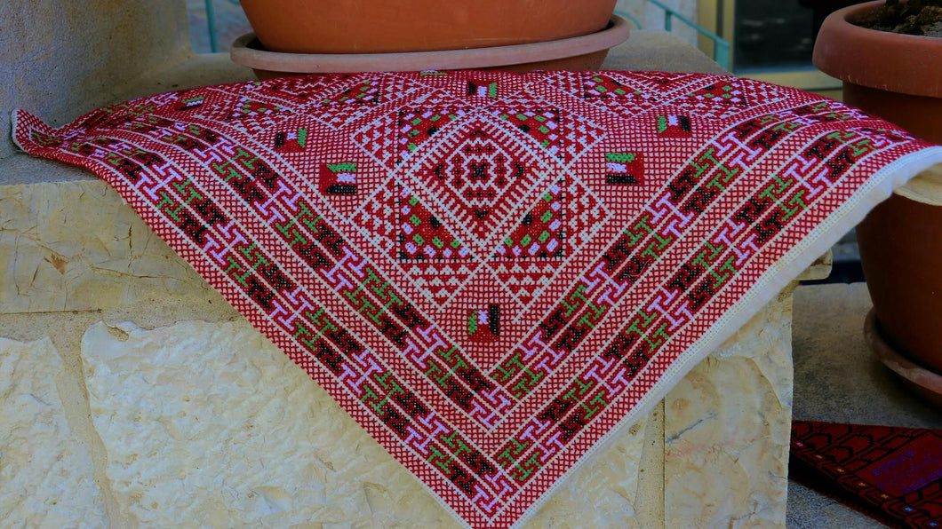 Hand embroidered Palestinian cushion case - Falastini Brand
